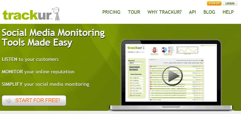 Trackur 4 Useful Free Social Media Monitoring Tools