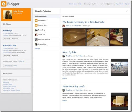 blogspotdashboard thumb Google Revealed New BlogSpot Dashboard Layout at SXSW 2011