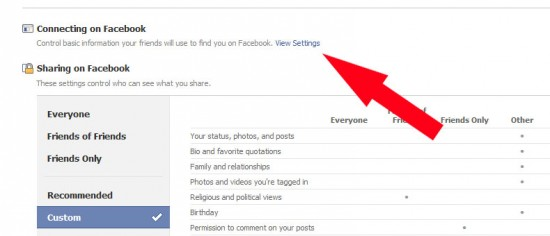 facebook tweak01 550x236 How to Hide FB Status Updates from Particular Friend on Facebook