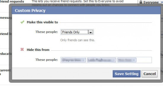 facebook tweak03 550x294 How to Hide FB Status Updates from Particular Friend on Facebook