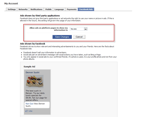 fbads thumb5 How to Stop Facebook from Using Your Name and Profile Photo in Facebook Ads