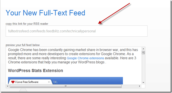 fullfeed thumb FullTextRSSFeed: Easily Convert Partial Post Feeds into Full Post Feeds