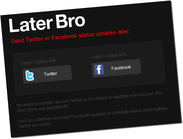 laterbro thumb How to Schedule Facebook Status Update