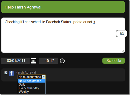 laterbroschedulingupdate thumb How to Schedule Facebook Status Update