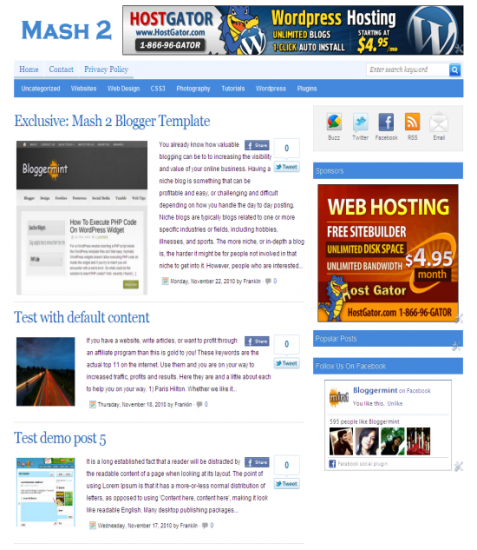 mash 2 template 477x550 5 Best Magazine Style Blogger templates