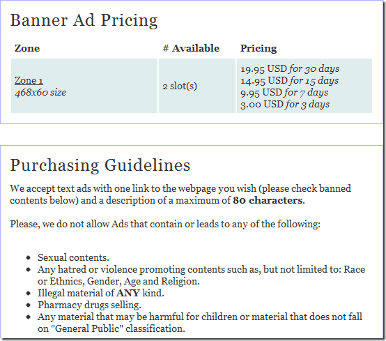 oiopublisherguideline thumb OIO Publisher WordPress Plugin: Manage And Sell Direct Ads