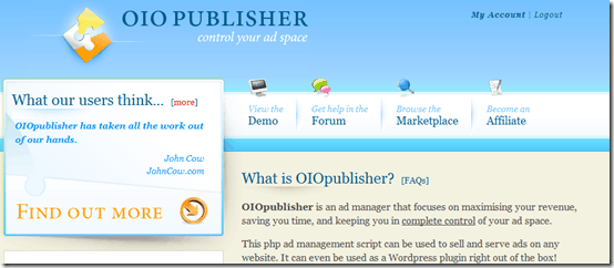 oiopublisherwordpressplugin thumb OIO Publisher WordPress Plugin: Manage And Sell Direct Ads
