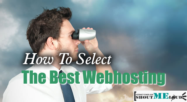 How to select the best Webhosting