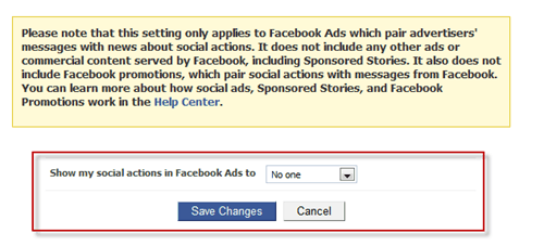 socialads1 thumb2 How to Stop Facebook from Using Your Name and Profile Photo in Facebook Ads