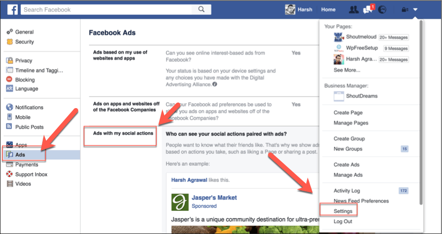 How to Stop Facebook From Showing Your Profile Picture in Ads