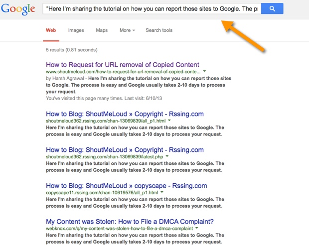 Blog copying your content