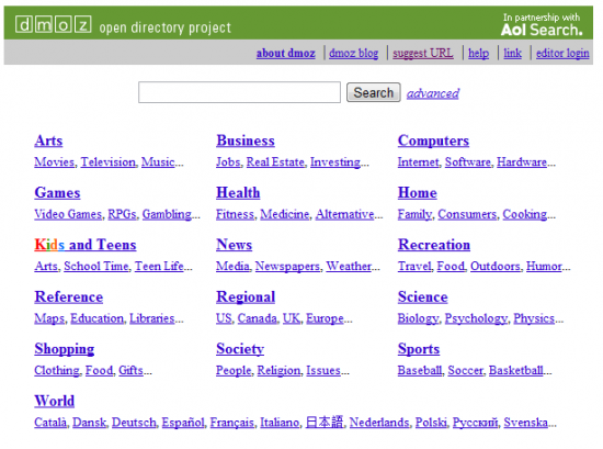 DMOZ 550x409 Get Higher Search Rankings with DMOZ Listings