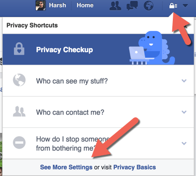 Privacy setting Facebook