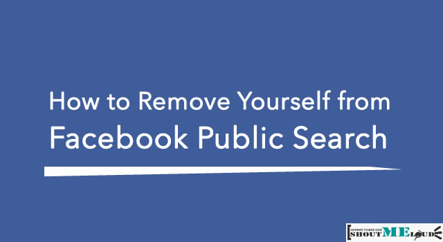 Remove From Facebook Public Search