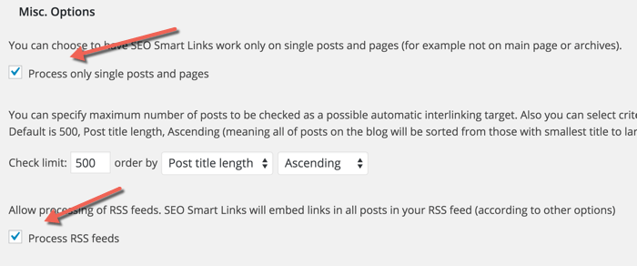 Setup SEO Smart link business plugin