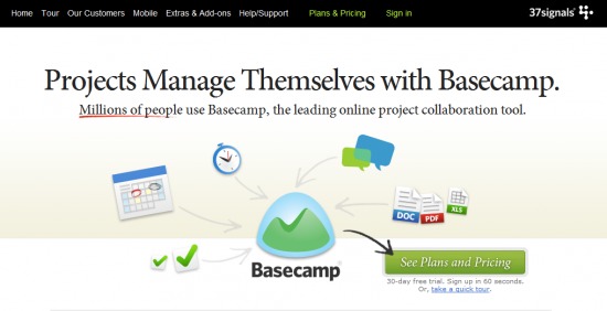 basecamp 550x282 5 Freelancer tools Useful for Freelance Web Designers