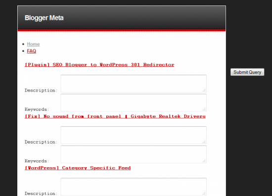 fill in descriptions keywords 550x396 [Blogger/Blogspot SEO] Meta Tag Generator for Individual Pages