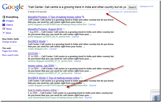 googlesearch thumb How to Request for URL removal of Copied Content: SEO
