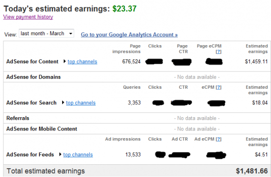march 2011 Adsense 550x361 50 Ways To Boost Your Google Adsense Revenue