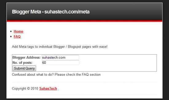 [Blogger/Blogspot SEO] Meta Tag Generator for Individual Pages