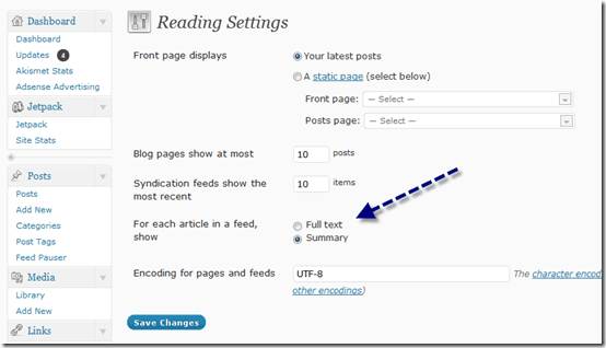partialrssfeeds thumb Blog Copying Article Ranking Higher After Google Panda Effect