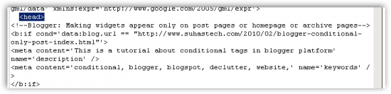 paste template 550x133 [Blogger/Blogspot SEO] Meta Tag Generator for Individual Pages