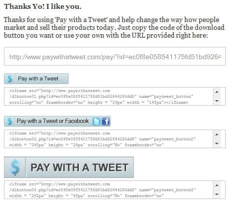 paywithattweet04 Pay With a Tweet  Social Payment System