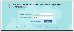 twitter login 300x132 How to Update Your Facebook Status Using Twitter
