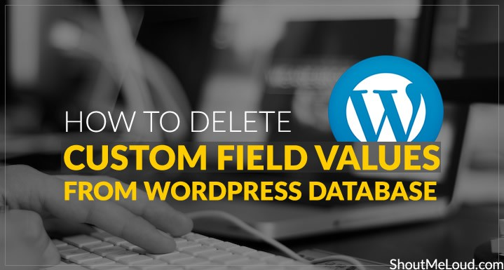 How To Delete Custom Field Values From WordPress Database