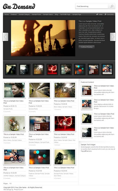 On demand Wordpress theme 5 Premium Wordpress Gallery Themes