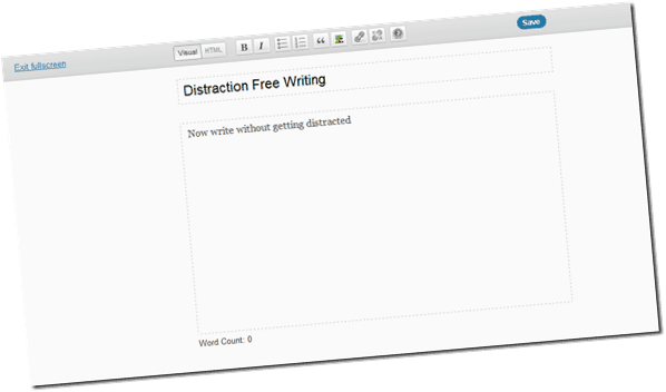 Wordpressdistractionfreewriting thumb What's New in WordPress 3.2: Distraction Free Writing