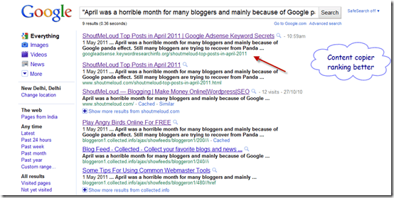 contentcopierrankinbetter thumb Why You Should Offer Partial Feeds after Google Panda Update