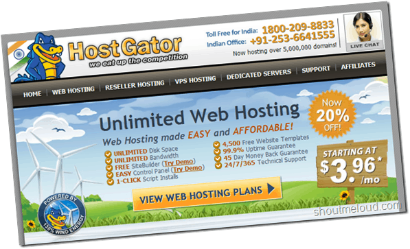 Hostgator India : Best Indian Web Hosting by Hostgator
