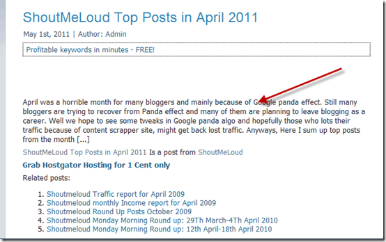 partialpost thumb Why You Should Offer Partial Feeds after Google Panda Update