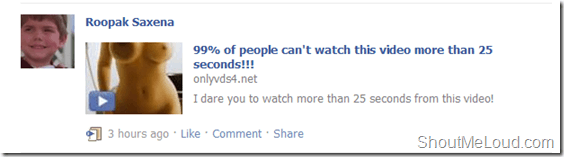 99% of people can't watch this video more than 25 seconds!!! [Facebook Spam]