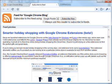 RSS Subscription Extension 6 tips to improve Google Chrome functionality