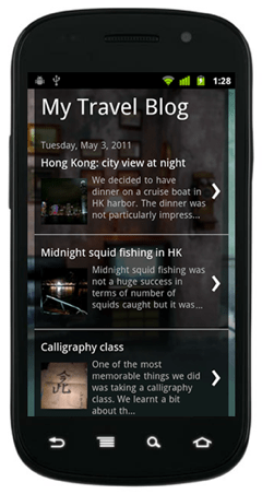 blogger mobile template example 1 Blogger Announces New Mobile Templates