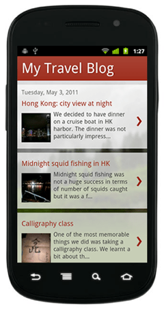 blogger mobile template example 2 Blogger Announces New Mobile Templates