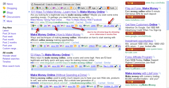using chrome extensions and firefox add ons to check competition 550x286 Why You Cant Rank For Keyword Make Money Online
