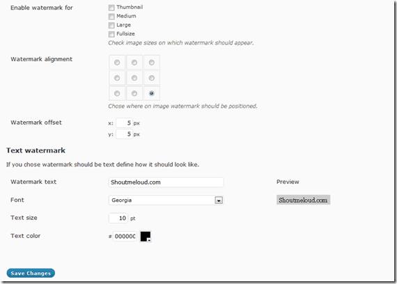 Watermark Reloaded Plugin
