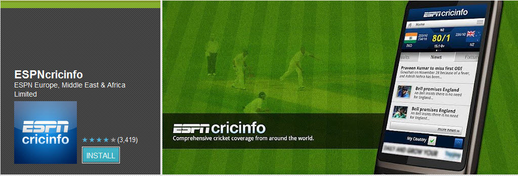 ESPnCricInfo Top Free Android Apps For Mobiles & Tablet