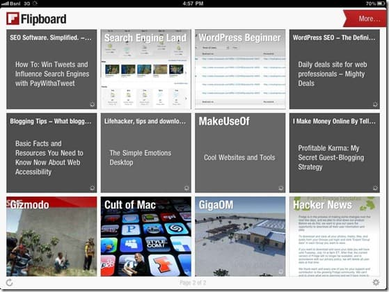 Flipboard1 thumb FlipBoard: Magazine Style Feed reader for iPad