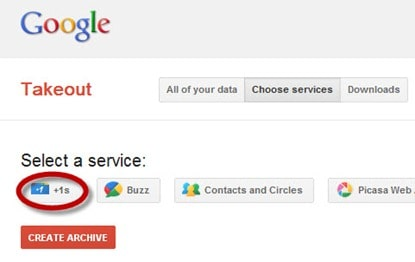 Google takeout thumb Use Google +1 as a Bookmarking Tool for Websites