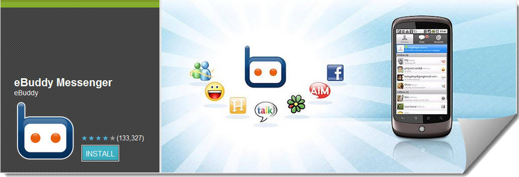 eBuddy Messenger Top Free Android Apps For Mobiles & Tablet