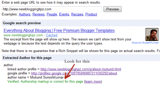 rich snippet look for this 550x296 How To Display Author Profile Picture On Google Search Engine?