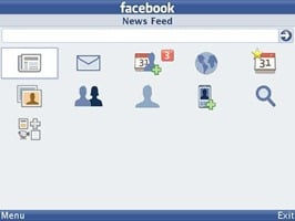 facebook app screens