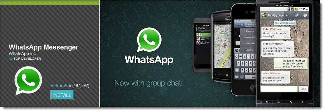 whatsapp Top Free Android Apps For Mobiles & Tablet