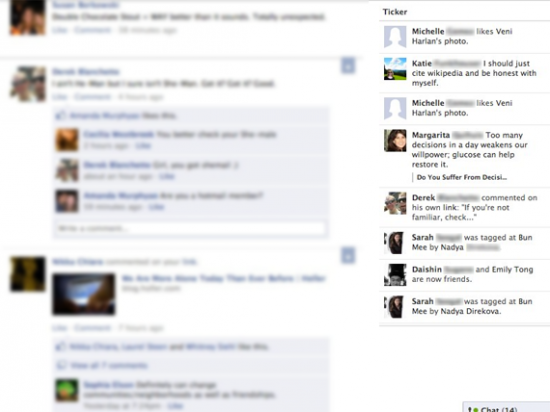 Facebook ticker 550x412 Facebook Testing New Feature: Ticker