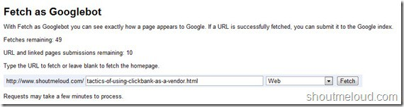 FetchGoogleBot thumb Google Added URL Submission to Webmaster tool