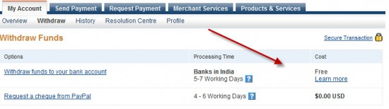 Free Paypal 550x154 PayPal Added Auto Withdrawal to Bank Account For Indian Users [Updated]
